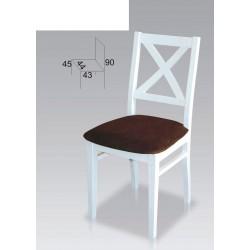 Białe krzesła drewniane krzyż biały B53