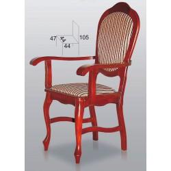 Krzesła BST15 drewniane z podłokietnikami