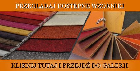 Przeglądaj wzornik drewna i tkanin obiciowych