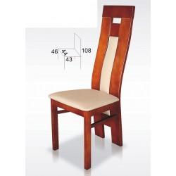 Nowoczesne krzesło oparcie profil BST54