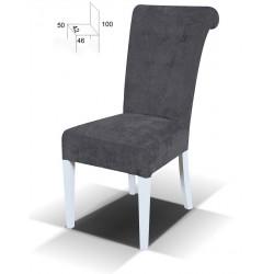 Stylowe krzesło tapicerowane Glamour Guziki BSTB55G