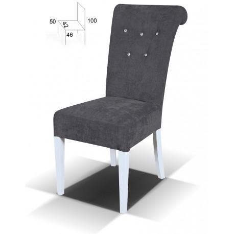 Eleganckie krzesło tapicerowane Glamour Kryształki BSTB55K