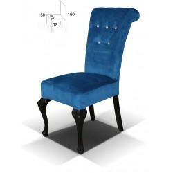 Tapicerowane krzesło do jadalni Ludwik Premium Kryształ B56K