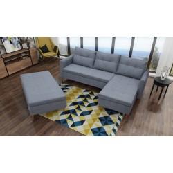 Rea sofa narożna z funkacją spania pufą gratis