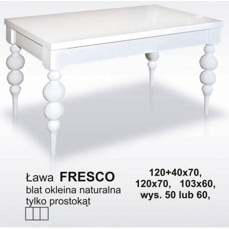 Włoska ława FRESCO kolor standard lub biały połysk