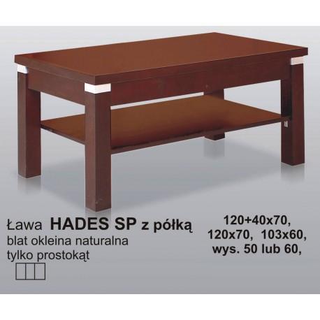 Nowoczesna ława z półką Hades SP laminat lub fornir