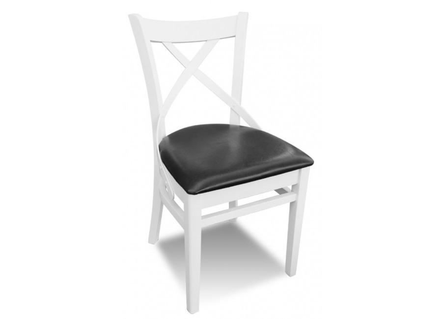 Rmk66 Skandynawskie Białe Krzesło Z Profilowanym Krzyżem Olameblujepl