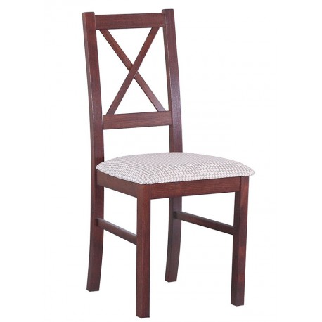 Stylowe krzesło kuchenne z drewnianym oparciem Krzyż Nilo X