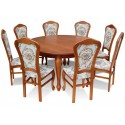 RMZG25 Elegancki zestaw stół i krzesła Francuska Arystokracja