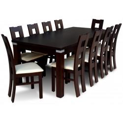 RMZ8 Jadalniany zestaw stół RMS18-S i krzesła JK41 w stylu nowoczesnym