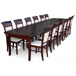 RMZ12WK Klasyczny komplet eleganckich krzeseł i stołu