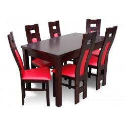 RMZ6K41B Kuchenny rozkładany stół z giętymi krzesłami RMK41B