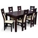 RMZ08P41B Piękny komplet jadalniany nowoczesny stół i krzsła