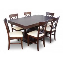 RMZ1S50 Awangardowy komplet stół + krzesła dla 6 osób w Skandynawskim stylu