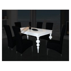 SSTH20 Włoski stół rozkładany Fresco Biały Połysk