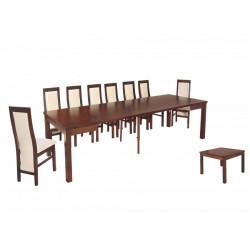 ZST3 Duże rozkładane stoły w zestawie z nowoczesnymi krzesłami do salonu