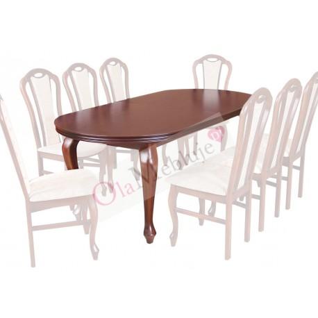 SSTH17 Wytworne i eleganckie stoły Ludwik na 8 osób z opcją rozkładania