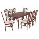 ZST15 Klasyczny zestaw stół i krzesła do salonu