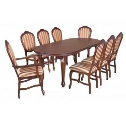 ZST16 Elegancki zestaw krzeseł ze stołem Ludwik