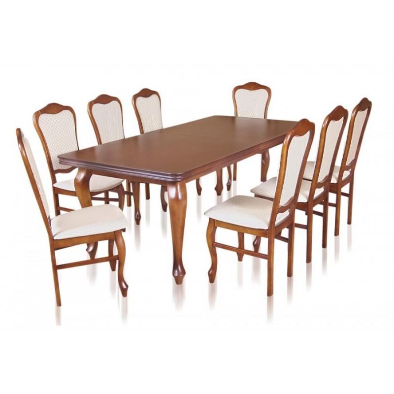 Zst17 Komplet Eleganckich Krzeseł I Stylowego Stołu Ludwik