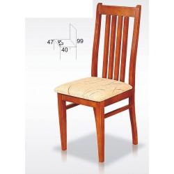 Krzesło z drewnianym oparciem BST26