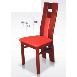 Stylowe krzesło z profilowanym oparciem BST36
