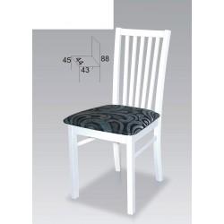 Białe krzesła drewniane szczeble biel BST52
