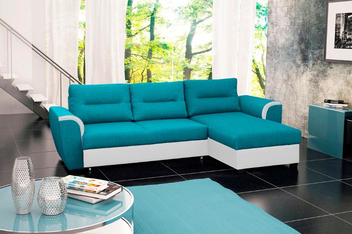 TomiTom niebiesko-biały soft 87 + biała tkanina