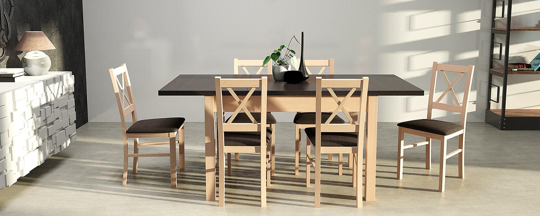 Stół Nadem krzesła Nilas